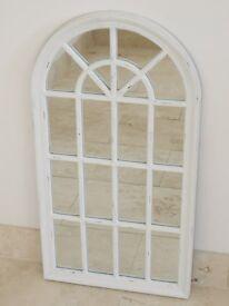 New Vintage Style Arch Mirror- Cream