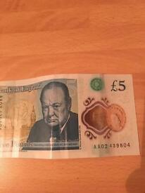 £5 bank note