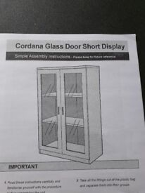 Cordana Glass Door Short Display Cabinet