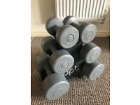 Ex display opti dumbbell tree with 6 dumbells