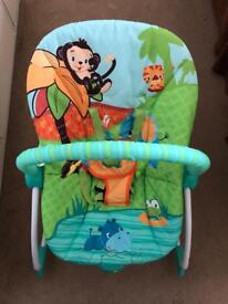 Bright starts vibrating bouncer chair