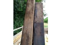 Reclaimed Hardwood Railway Sleepers 150 x 240 mm x 2.4m