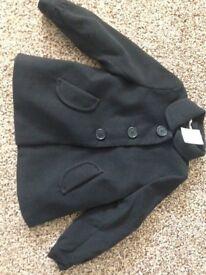 BNWT Girls Black Winter Coat from H&M Age 6 – 7 £9