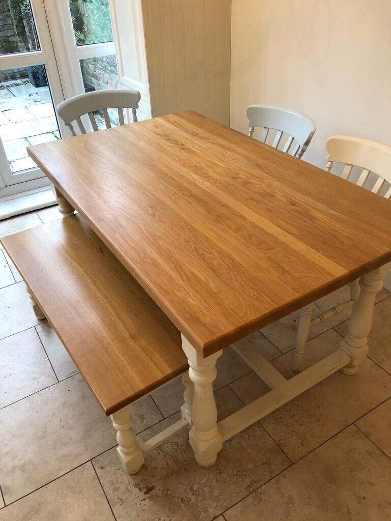Solid oak dining table and chairs  in Twickenham, London  Gumtree