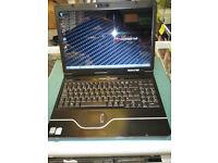 "PackardBell Ajax C3 laptop WEBCAM DUAL CORE 3GB 160GB DVDRW WINDOWS 7 15.4"" WORKING LAPTOP & CHARGER"