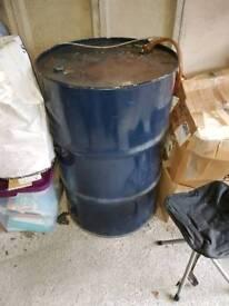 45 gallon drum with diesel pump.