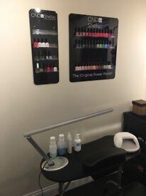 Gel manicure/pedicure. Trained in CND Shellac