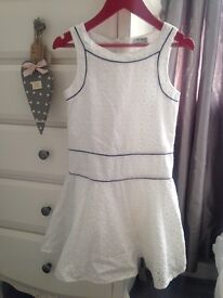 2 white summer dresses, aged 8/9 years