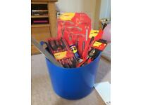 Bucket full of tools. Great for a present for a tool enthusiasts