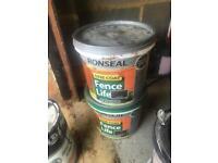 7.5 litres fence paint