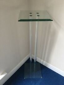 Contemporary Glass display stand