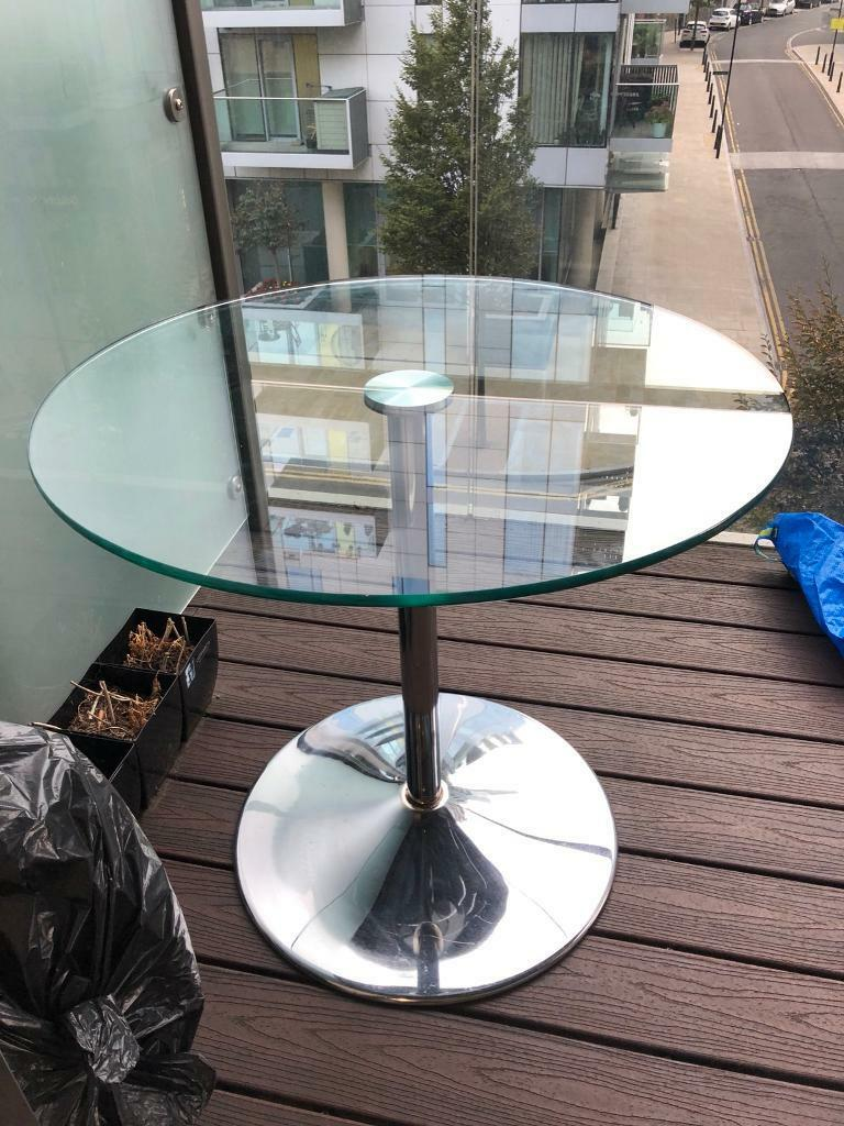 Table 80cm Glass Chrome In London Gumtree