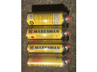 Pack of Four Marksman Butane Gas Refill 227G (unopened)
