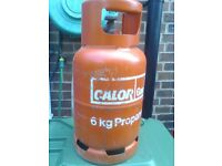 6kg calor propane gas bottle,full,see description.