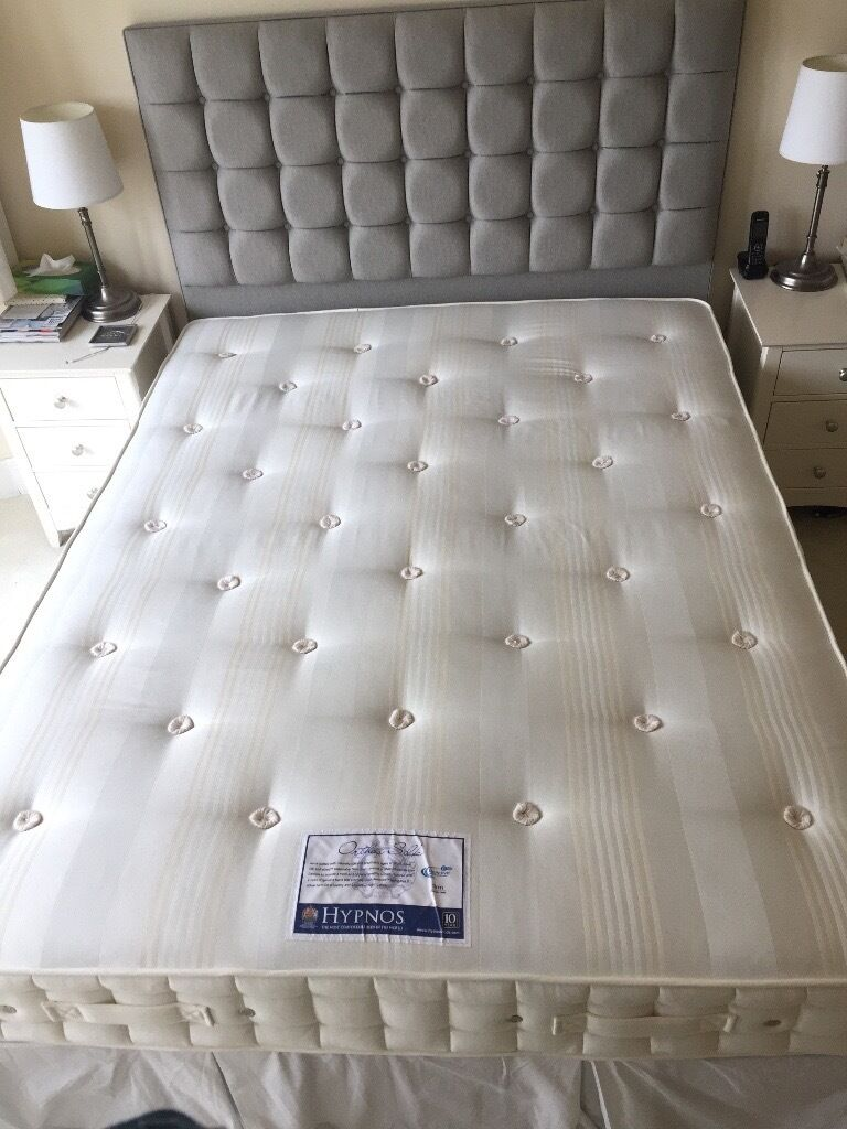 Hypnos King size Mattress (Ortho Silk) less than 2 years old