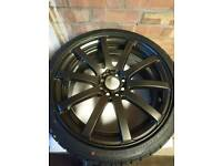 """Kei Force 10 17"""" Alloys with tyres"""