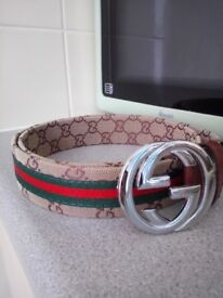 "Gucci belt 32"" - 34"" silver buckle"