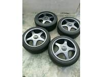 4x100 Borbet RST17 wheels and tyres