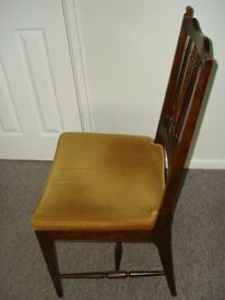 FOUR STAG DINING CHAIRS (ex Aldiss of Fakenham)