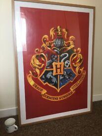Harry Potter Hogworts poster and frame