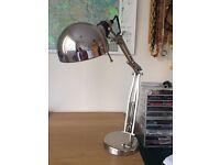 Ikea FORSÅ Work lamp, nickel-plated £15 new