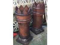 Antique Crown chimney pots undamaged beautifully glazed £45 each
