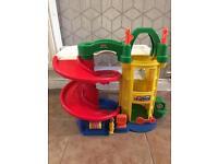 Childrens fisher price toy garage