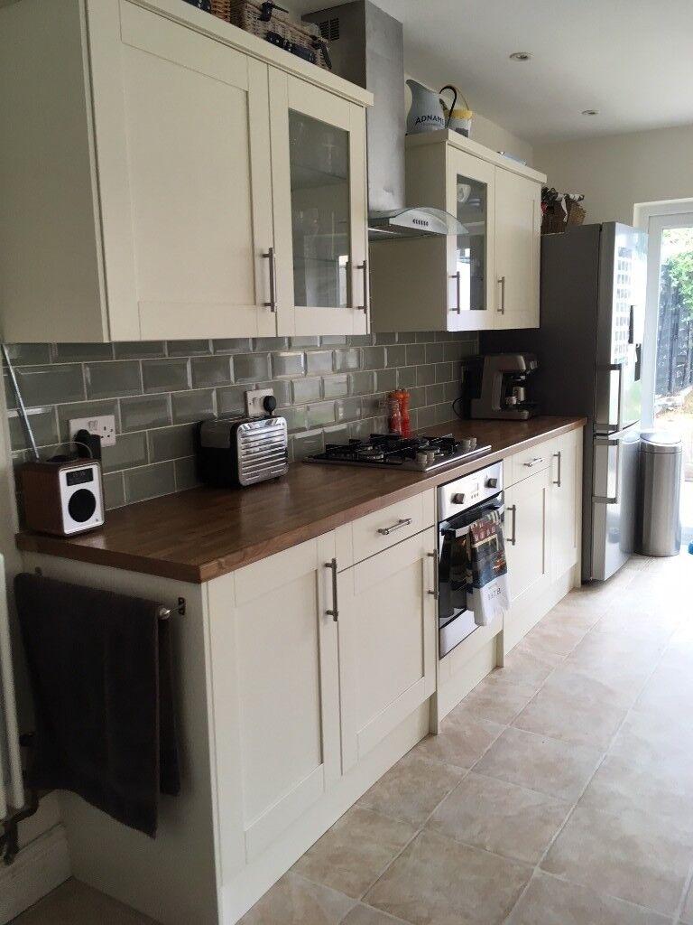 Homebase Kitchen: Includes Worktop, Ceramic Reversible Kitchen Sink ...