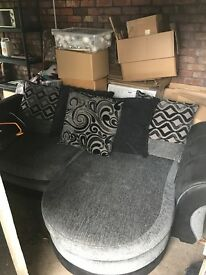 Scatter Cushion DFS Sofa BLack and Grey