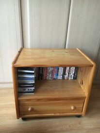 Small Pine TV Stand with Drawer