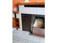 Tiled fire place for sale