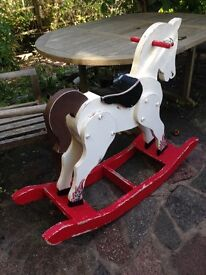 Wooden rocking horse for sale. Ideal restoration project.