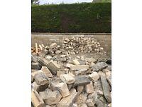 Hardcore reclaimed bradstone brick and coping stones
