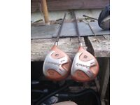 Taylormade Burner 3 and 5 Wood with Graphite Bubble Shafts