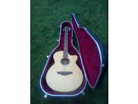 FAITH VENUS NAKED ALL SOLID ELECTRO ACOUSTIC GUITAR AMAZING SOUND PLUS HISCOX FLIGHT CASE SPRUCE TOP
