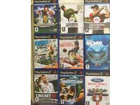 Bundle of 8 Play Station 2 games & 1 PC CD-Rom, Disney Finding Nemo