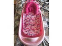 Baby bath and bath seat (pink)