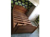 Solid Pine double bed with 4 drawer storage