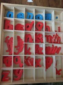 Montessori movable alphabet handmade set