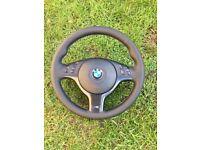 BMW e46 M3 refurbished Msport steering wheel e46 e39 e53 x5 for sale  Wisbech, Cambridgeshire