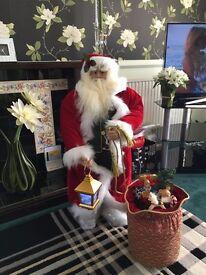 Stunning Musical Santa Claus Standing Figure 3ft Tall with light up Lantern