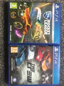 Rocket league collectors edition and the crew ps4 game games