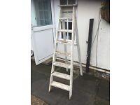 Vintage Rustic Wooden Ladder