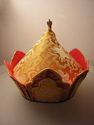 Lama Mütze aus Tibet-Nepal (Vajra Lama hat)