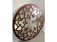 Large round Next mirror bronze