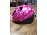 Pink baby/toddler cycle helmet