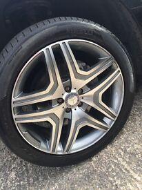 "Mercedes Benz replica m63 20"" Alloy wheel with tyres"