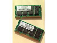 512MB RAM - Laptop Memory DDR2100s 266mhz