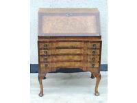 Walnut Bureau desk with Key (Delivery)
