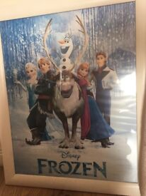 Frozen picture in frame